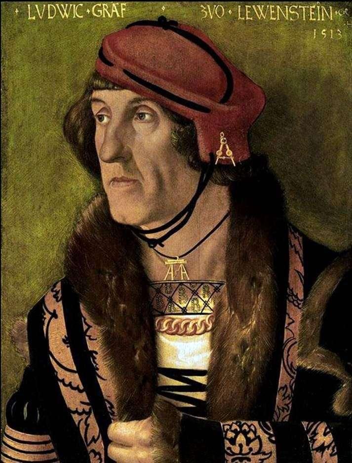 Портрет графа Людвига Левенштайна   Ганс Бальдунг