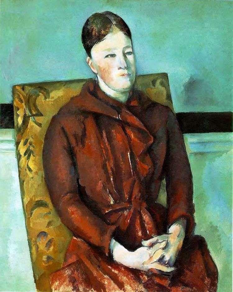 Жена художника в желтом кресле   Поль Сезанн