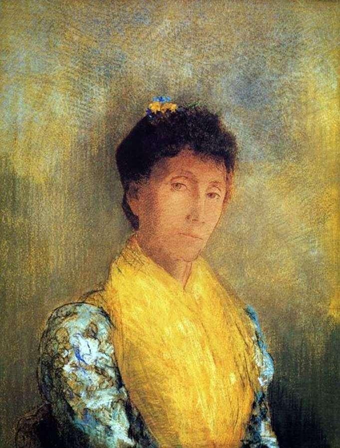 Женщина в желтом   Одилон Редон