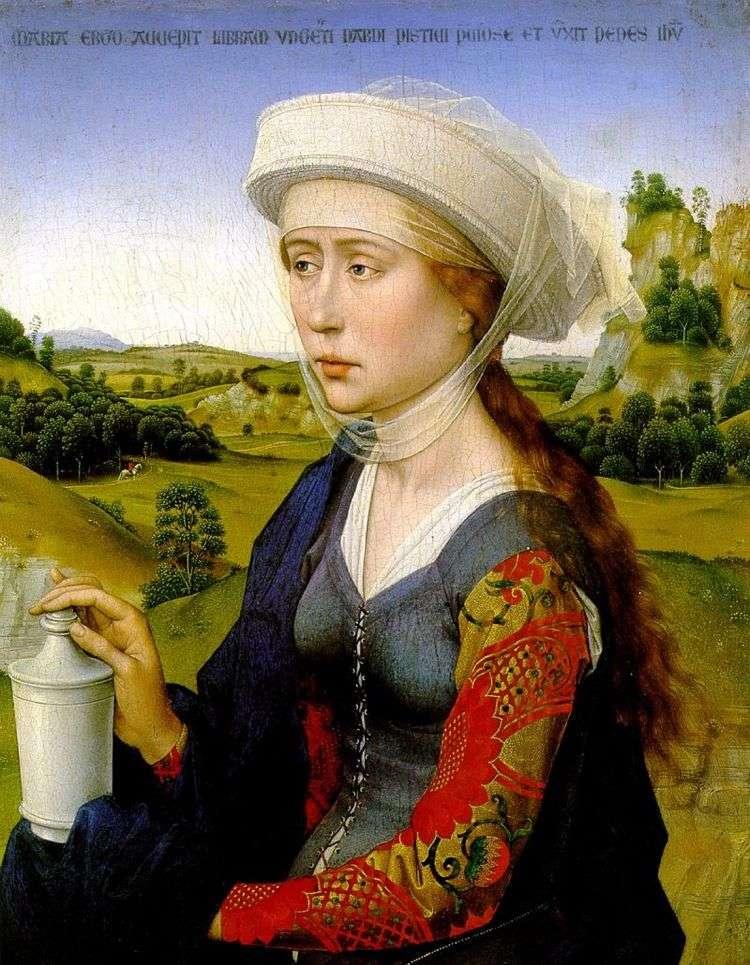 Правая створка   Мария Магдалина. Триптих семьи Брак   Рогир ван дер Вейден