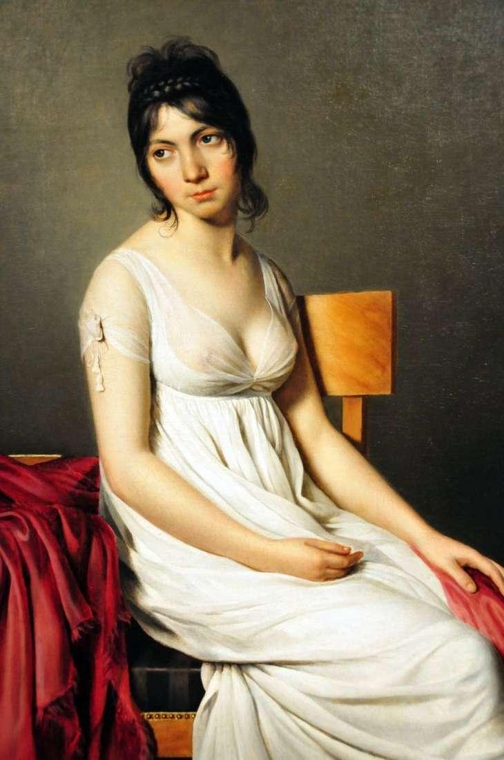 Портрет Джованны Донны в белом   Жак Луи Давид