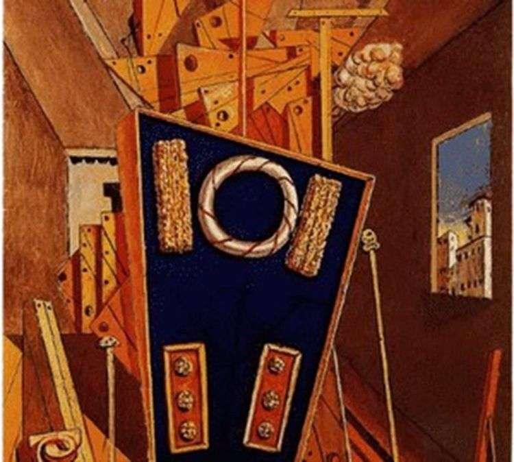 Метафизический интерьер с печеньем   Джорджо де Кирико