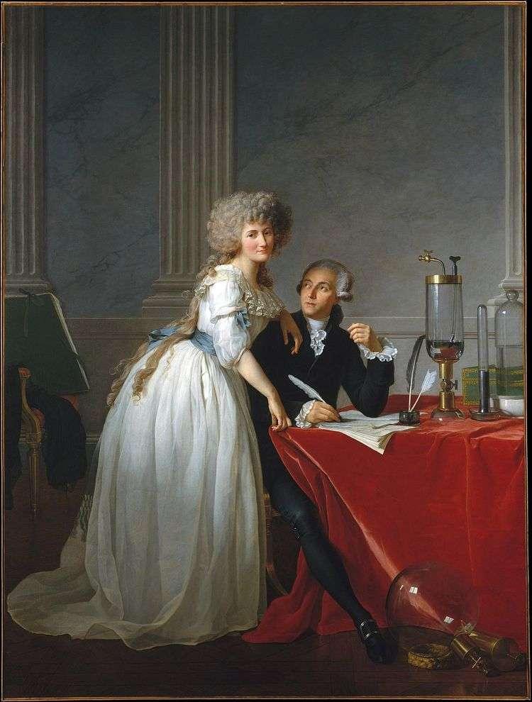 Портрет Лавуазье и его жены Мари Анны   Жак Луи Давид