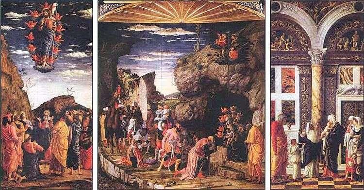 Триптих с Поклонением волхвов   Андреа Мантенья