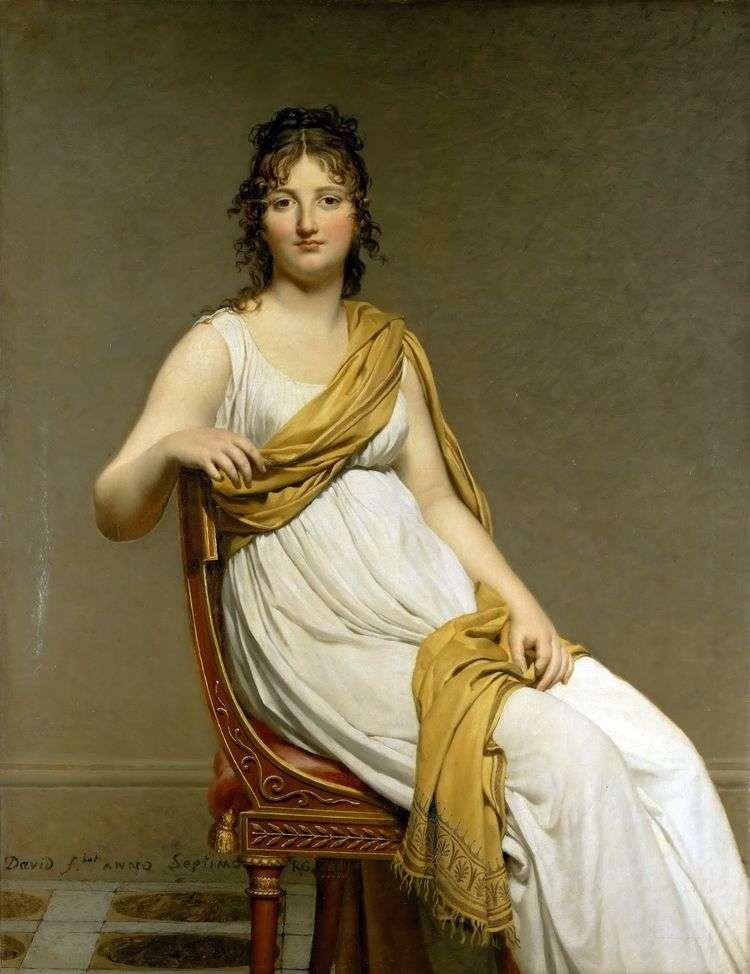Портрет мадам Генриэтты де Верниньяк   Жак Луи Давид