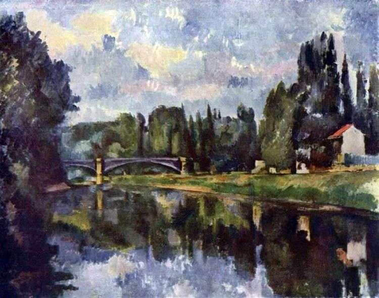 Мост через Марну в Кретее   Поль Сезанн