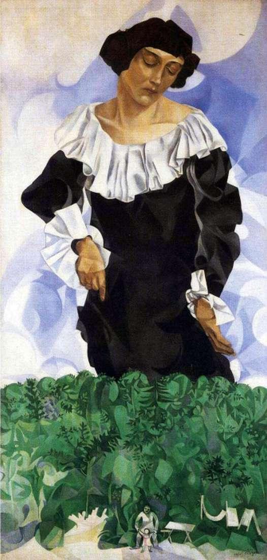 Белла с белым воротником   Марк Шагал