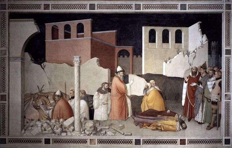 Чудо с драконом папы Сильвестра Святого   Масо ди Банко