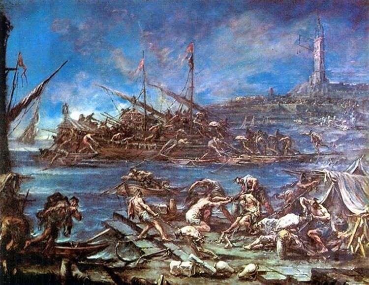 Посадка на галеры   Алессандро Маньяско