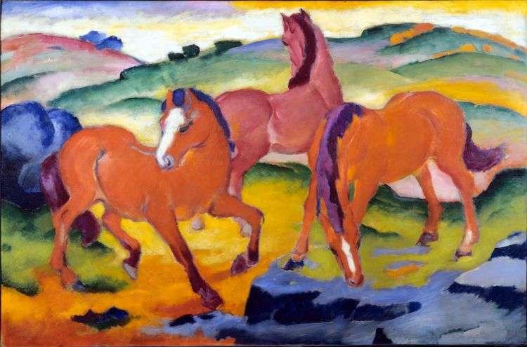 Красные кони   Франц Марк