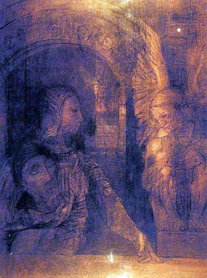 Таинственный рыцарь или Сфинкс   Одилон Редон