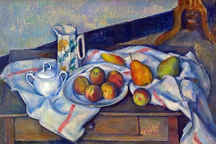 Персики и груши   Поль Сезанн