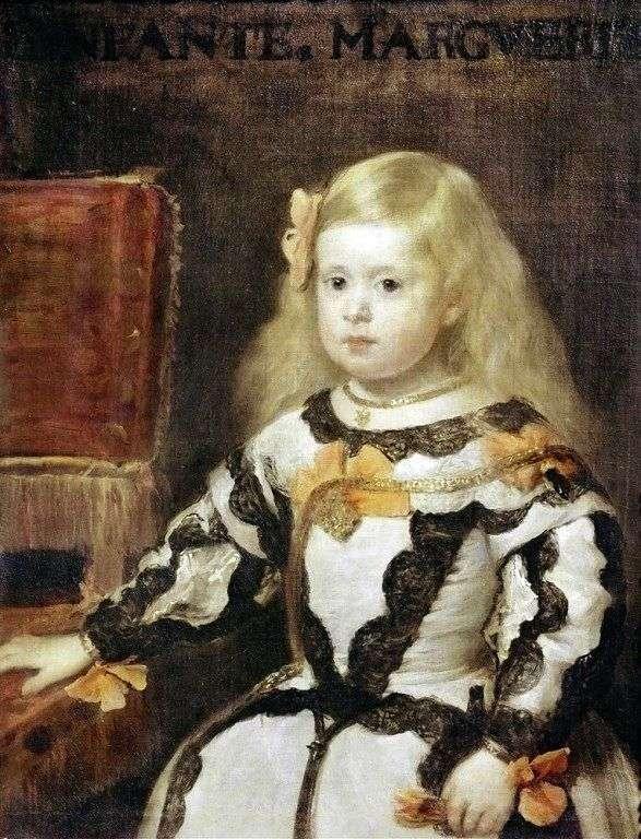 Инфанта Мария Маргарита, дочь короля Филиппа IV, короля Испании   Диего Веласкес