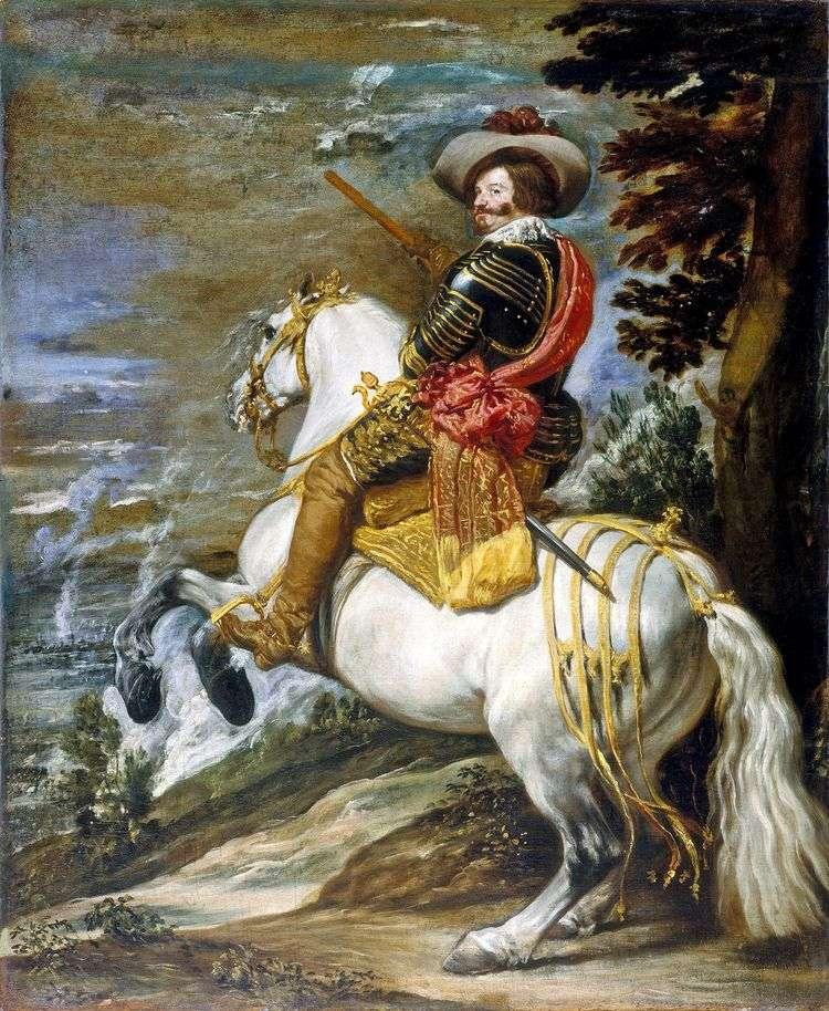 Конный портрет графа герцога Оливареса   Диего Веласкес