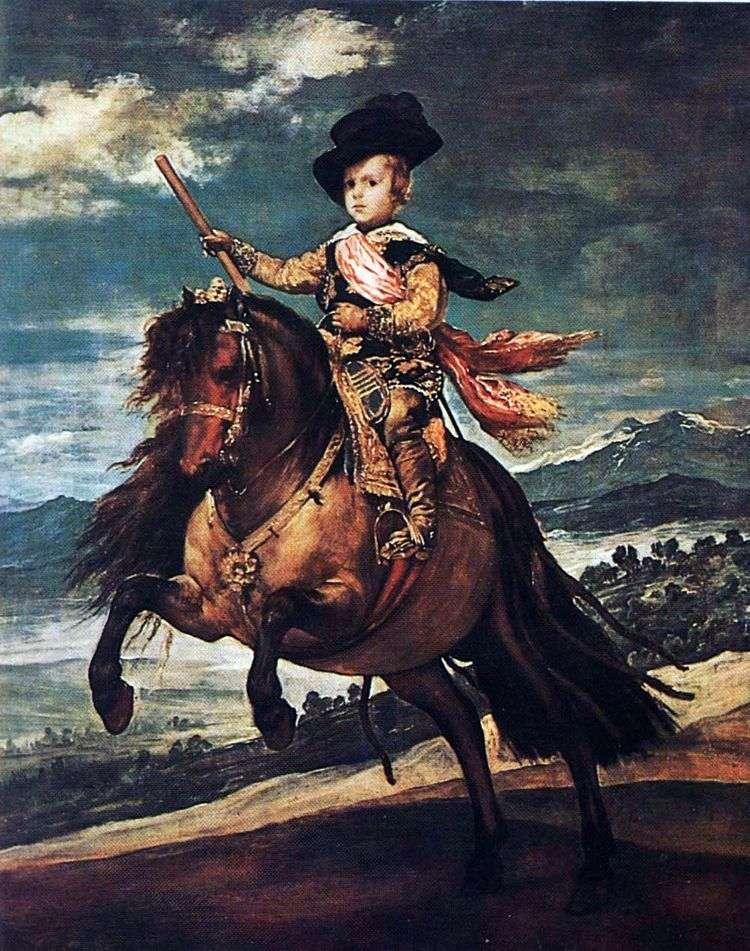 Конный портрет инфанта Балтазара Карлоса   Диего Веласкес