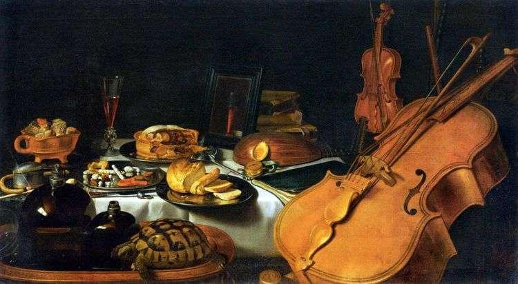 Натюрморт с музыкальными инструментами   Питер Клас