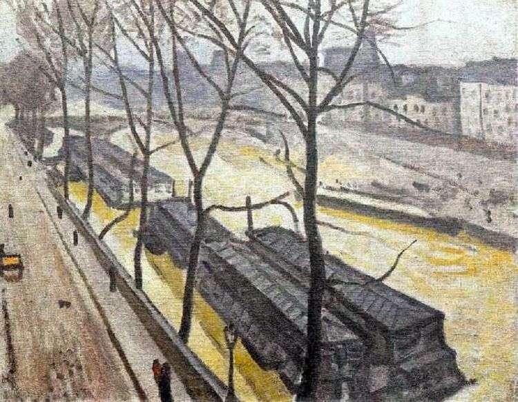 Париж зимой. Набережная Бурбон   Альбер Марке
