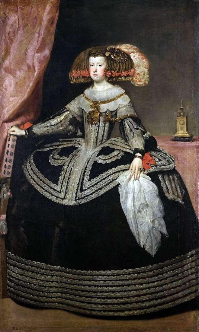 Королева Мария Анна Австрийская   Диего Веласкес