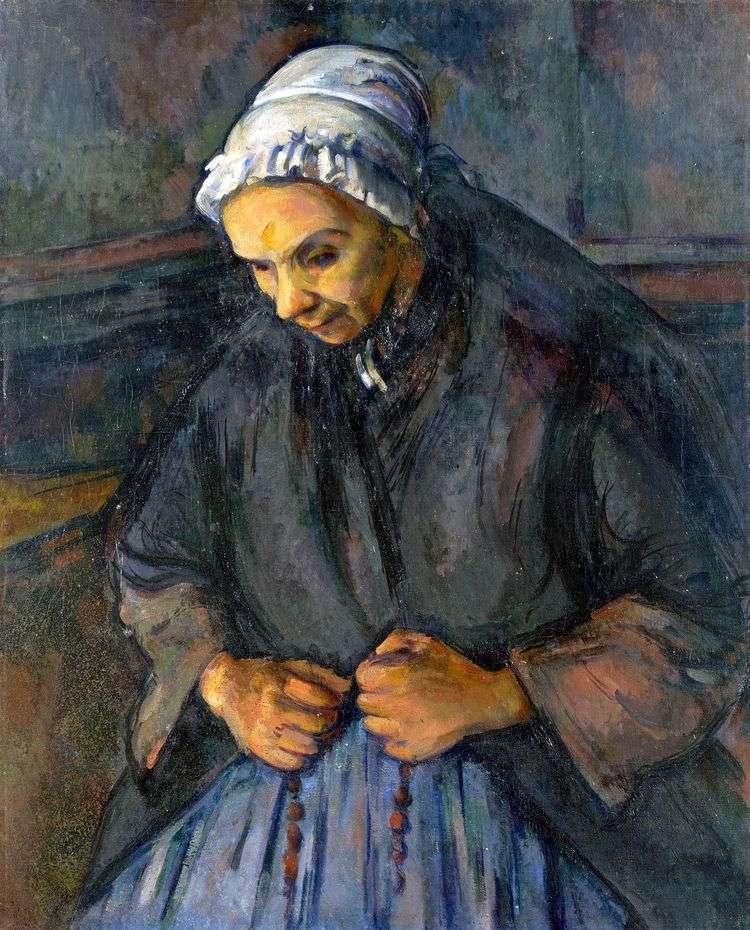 Старуха с четками   Поль Сезанн