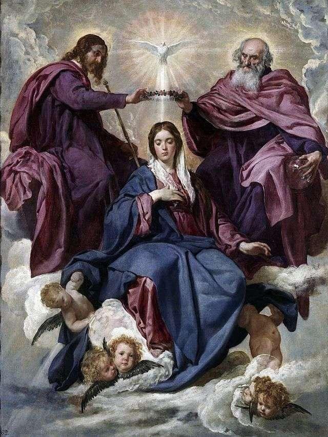 Коронование Богоматери   Диего Веласкес