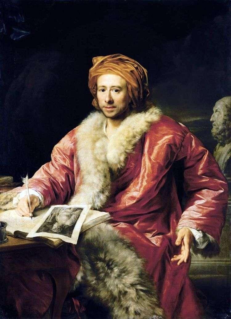 Портрет Винкельмана Иоганна Иоахима   Антон фон Марон