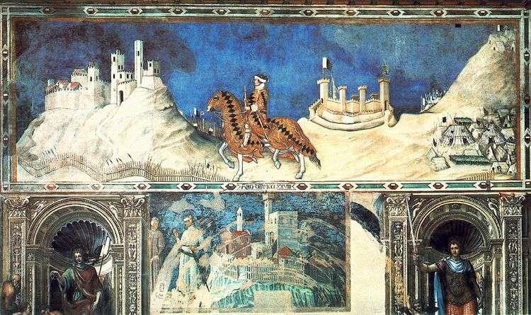 Конный портрет Гвидориччо да Фольяно   Симоне Мартини