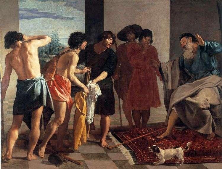Окровавленный плащ Иосифа приносят Иакову   Диего Веласкес