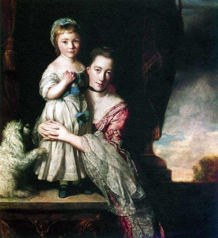 Джорджиана, графиня Спенсер, с дочерью   Джошуа Рейнолдс