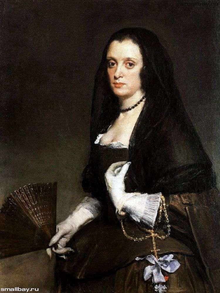 Портрет дамы с веером   Диего Веласкес