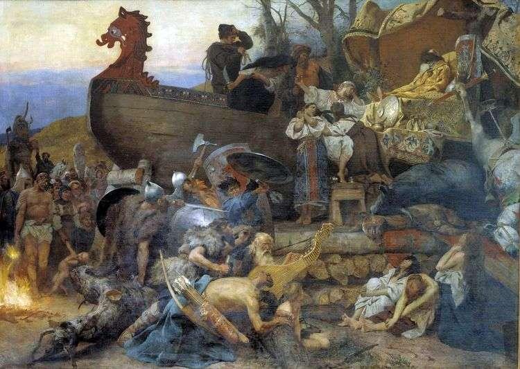 Похороны знатного руса   Генрих Семирадский