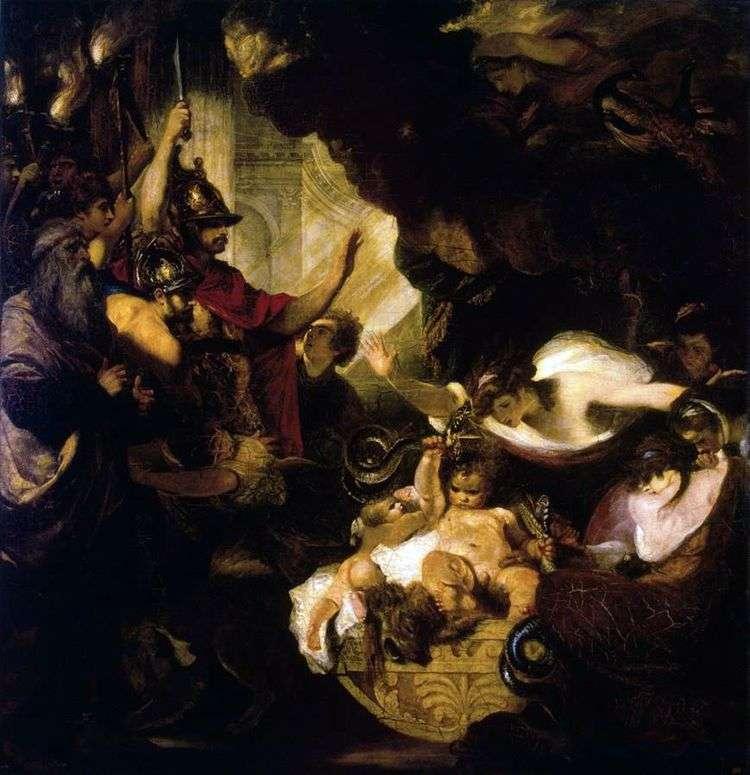 Младенец Геракл, удушающий змей   Джошуа Рейнолдс
