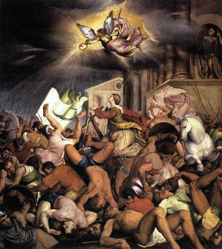 Мученичество святой Екатерины   Якопо Бассано