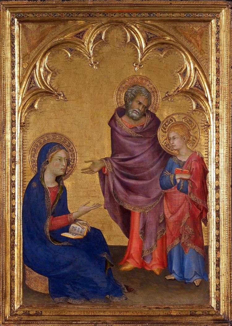 Святое семейство   Симоне Мартини