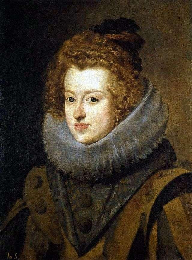 Портрет инфанты Марии Анны Испанской королевы Венгрии   Диего Веласкес