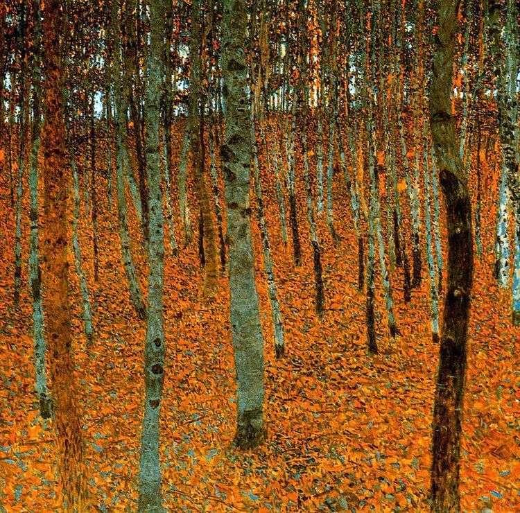 Березовый лес   Густав Климт