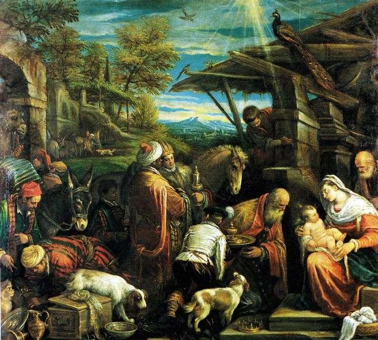 Поклонение волхвов   Якопо Бассано