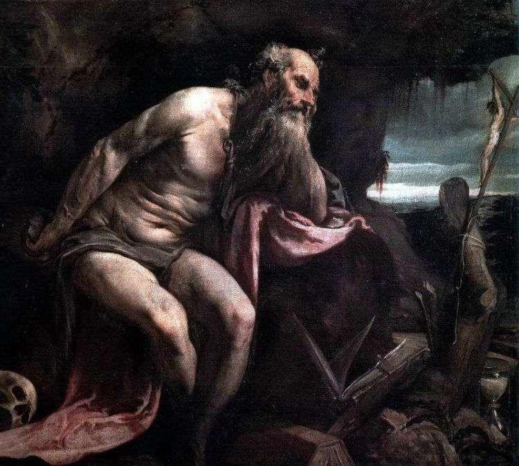Святой Иероним в пустыне   Якопо Бассано