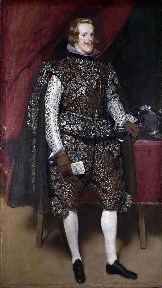 Портрет Филиппа IV в коричневом с серебром костюме   Диего Веласкес