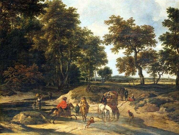 В лесу   Якоб ван Рейсдал