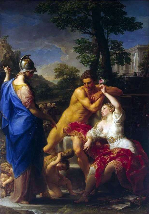 Геркулес на распутье между Добродетелью и Пороком   Помпео Батони