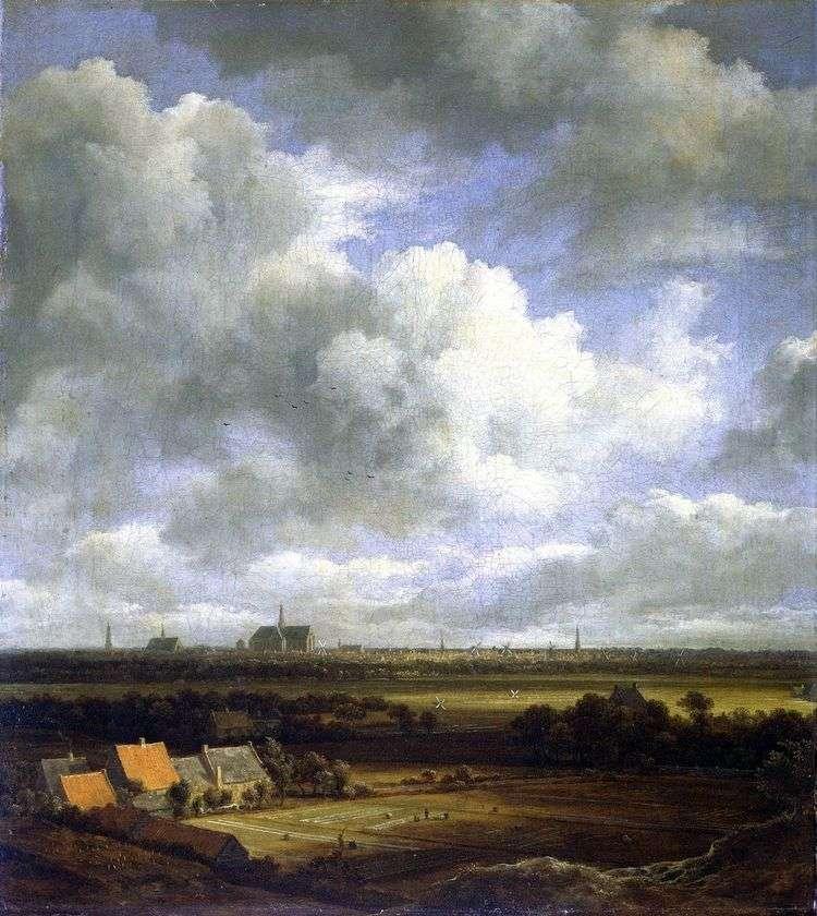 Вид Харлема с полями   Якоб ван Рейсдал
