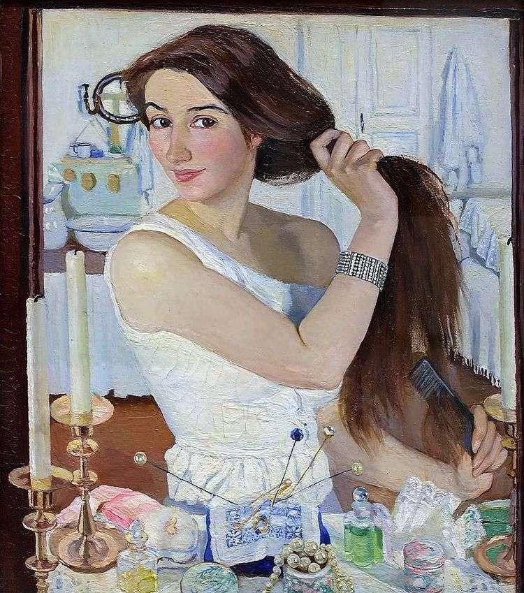 Автопортрет (За туалетом)   Зинаида Серебрякова