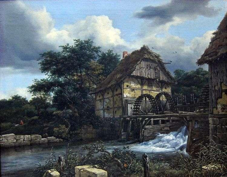 Две водяные мельницы   Якоб ван Рейсдал