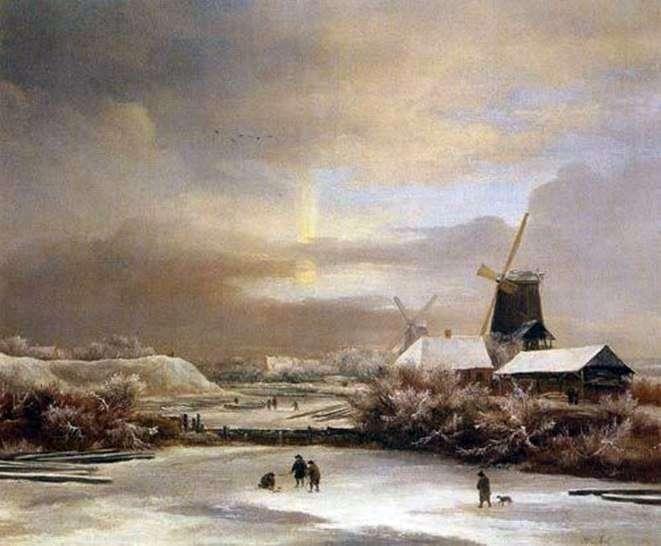 Зимние сцены   Якоб ван Рейсдал