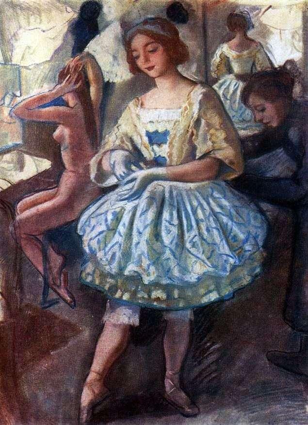 Портрет балерины Е. А. Свекис в костюме для балета Фея кукол   Зинаида Серебрякова