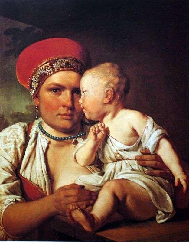 Кормилица с ребенком   Алексей Венецианов