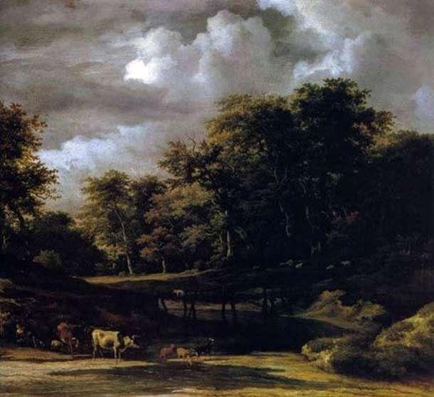 Лесной пейзаж   Якоб ван Рейсдал