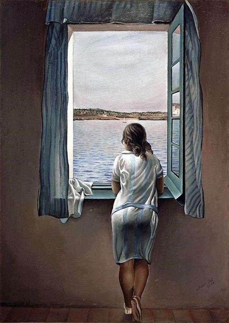 Девушка у окна   Сальвадор Дали