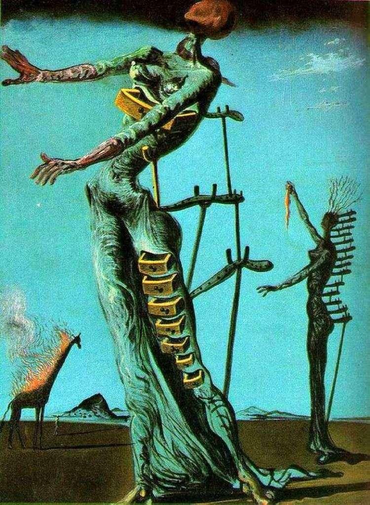 Жираф в огне   Сальвадор Дали