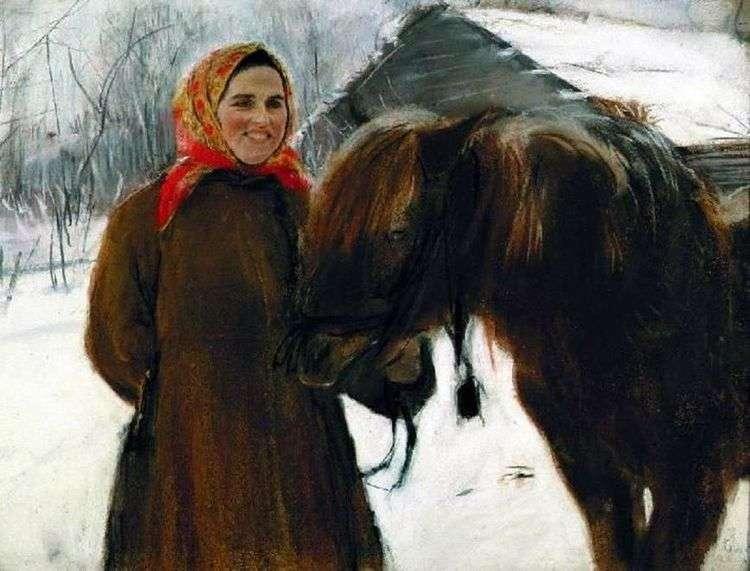 Баба с лошадью   Валентин Серов